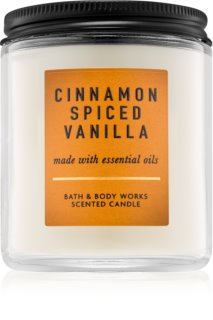 Bath & Body Works Cinnamon Spiced Vanilla vela perfumado 198 g I.