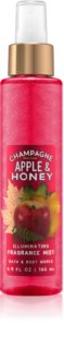 Bath & Body Works Champagne Apple & Honey spray corpo per donna 146 ml brillante