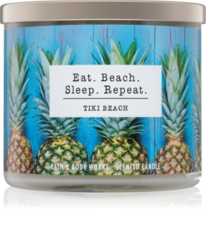 Bath & Body Works Tiki Beach vonná sviečka 411 g I. Eat. Beach. Sleep. Repeat.