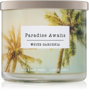 Bath & Body Works White Gardenia dišeča sveča  411 g I. Paradise Awaits