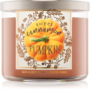 Bath & Body Works Sweet Cinnamon Pumpkin Duftkerze  411 g I.