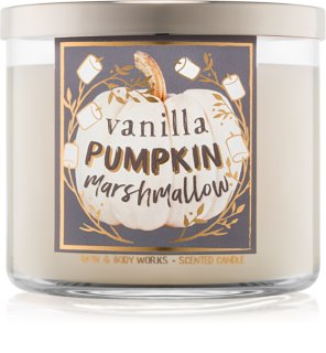 Bath & Body Works Vanilla Pumpkin Marshmallow Duftkerze  411 g I.