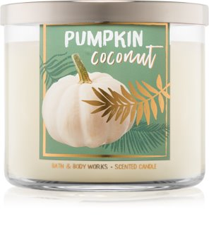 Bath & Body Works Pumpkin Coconut illatos gyertya  411 g