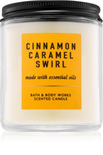 Bath & Body Works Cinnamon Caramel Swirl Αρωματικό κερί 198 γρ I.