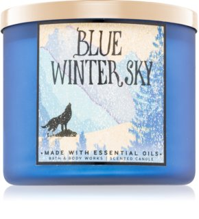 Bath & Body Works Blue Winter Sky vonná sviečka Vôňa do bytu 411 g