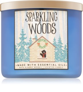 Bath & Body Works Sparkling Woods Duftkerze  411 g