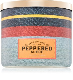Bath & Body Works Peppered Suede vela perfumada  411 g I.