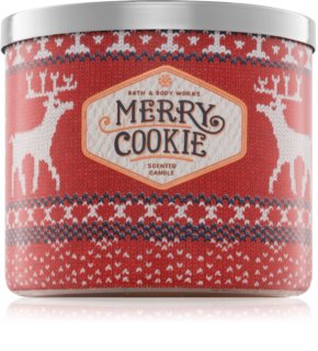Bath & Body Works Merry Cookie candela profumata 411 g
