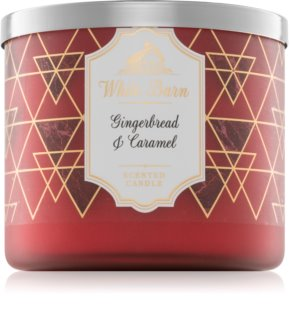 Bath & Body Works Gingerbread & Caramel candela profumata 411 g