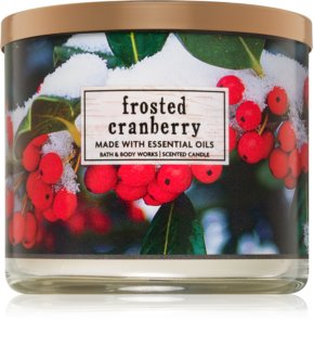 Bath & Body Works Frosted Cranberry Duftkerze  411 g I.