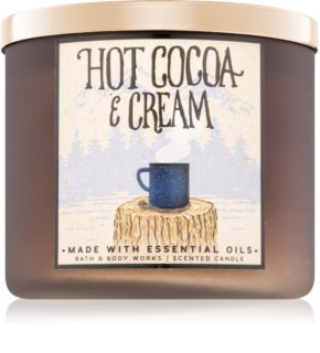Bath & Body Works Hot Cocoa & Cream ароматна свещ  411 гр. II.