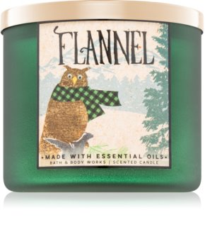 Bath & Body Works Flannel vela perfumado 411 g II.