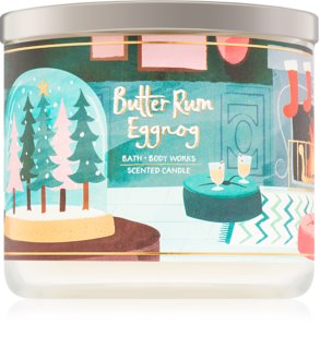 Bath & Body Works Butter Rum Eggnog vela perfumado 411 g