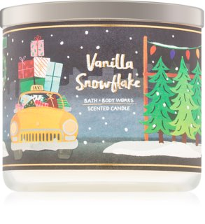 Bath & Body Works Vanilla Snowflake Scented Candle Home Scents 411 g