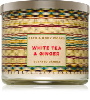 Bath & Body Works White Tea & Ginger vela perfumada 411 g