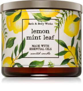 Bath & Body Works Lemon Mint Leaf Geurkaars 411 gr I.