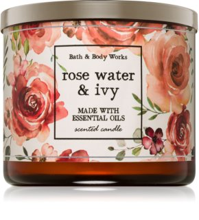 Bath & Body Works Rose Water & Ivy αρωματικό κερί
