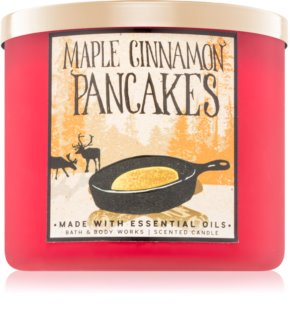 Bath & Body Works Maple Cinnamon Pancakes Duftkerze  411 g