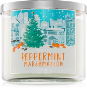 Bath & Body Works Peppermint Marshmallow vela perfumada  411 g