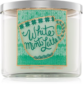 Bath & Body Works White Mint Latte vela perfumada 411 g I.