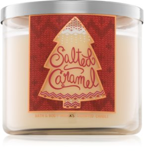 Bath & Body Works Salted Caramel vela perfumado 411 g