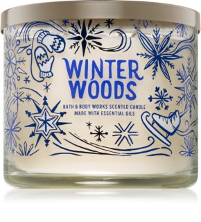 Bath & Body Works Winter Woods vela perfumada