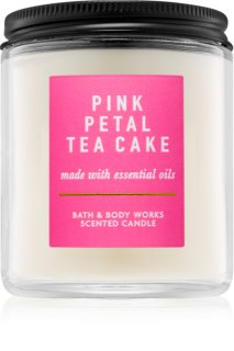 Bath & Body Works Pink Petal Tea Cake vela perfumada 198 g