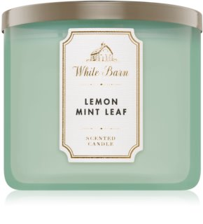 Bath & Body Works Lemon Mint Leaf vela perfumada 411 g