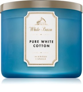 Bath & Body Works Pure White Cotton vela perfumada 411 g