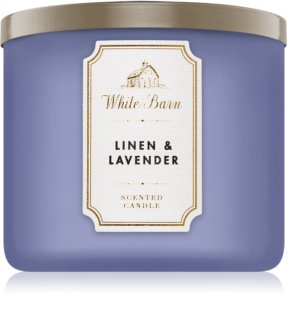 Bath & Body Works Linen & Lavender Duftkerze  411 g