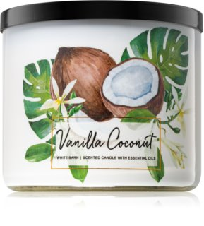 Bath & Body Works Vanilla Coconut Duftkerze  411 g