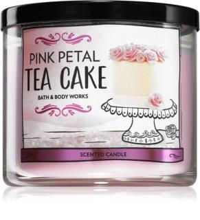 Bath & Body Works Pink Petal Tea Cake vela perfumada I.