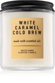 Bath & Body Works White Caramel Cold Brew vonná svíčka 198 g I.