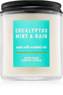 Bath & Body Works Eucalyptus Mint & Rain vela perfumada 198 g