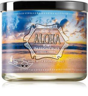 Bath & Body Works Aloha Kiwi Passionfruit vonná svíčka II. 411 g