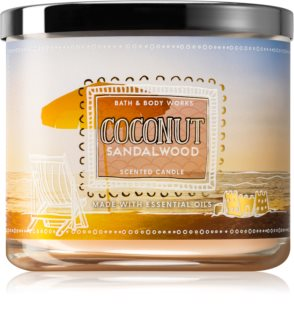 Bath & Body Works Coconut Sandalwood vela perfumada 411 g
