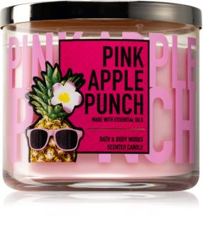 Bath & Body Works Pink Apple Punch vela perfumada