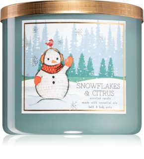 Bath & Body Works Snowflakes & Citrus bougie parfumée