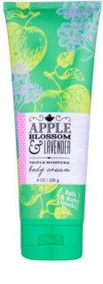 Bath & Body Works Apple Blossom & Lavender crème corps pour femme 226 g