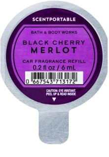 Bath & Body Works Black Cherry Merlot parfum pentru masina 6 ml Refil
