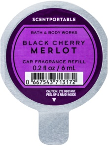 Bath & Body Works Black Cherry Merlot Auto luchtverfrisser  6 ml Vervangende Vulling