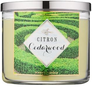 Bath & Body Works Citron Cedarwood bougie parfumée 411 g