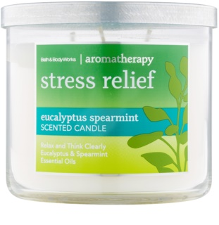 Bath & Body Works Stress Relief Eukalyptus Spearmint dišeča sveča  411 g