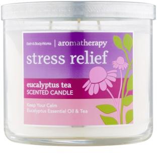 Bath & Body Works Stress Relief Eucalyptus Tea dišeča sveča  411 g