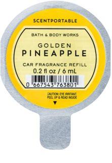 Bath & Body Works Golden Pineapple vôňa do auta 6 ml náhradná náplň