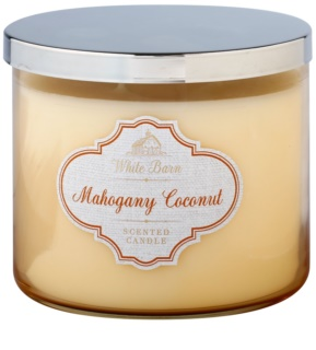 Bath & Body Works White Barn Mahogany Coconut ароматна свещ  411 гр.