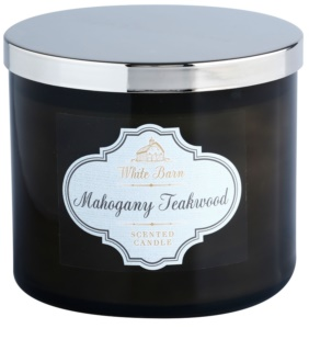 Bath & Body Works White Barn Mahogany Teakwood candela profumata 411 g