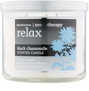 Bath & Body Works Relax Black Chamomile dišeča sveča  411 g