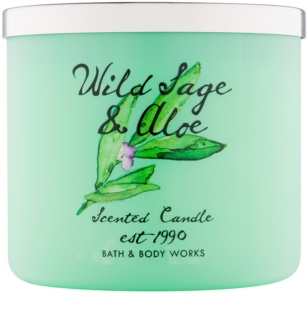 Bath & Body Works Wild Sage & Aloe vonná svíčka 411 g