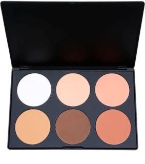 BH Cosmetics Contour & Blush palete de cores para contorno de rosto